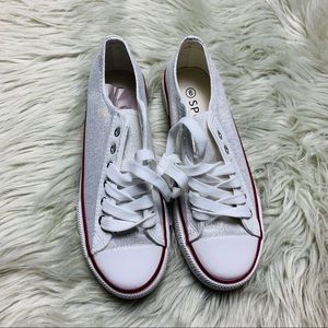 Shoes - Sparkly Sneakers Size 6 Small spot (see pics)